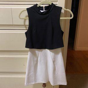 Women's ASOS Lavish Alice Black & White Dress NWOT